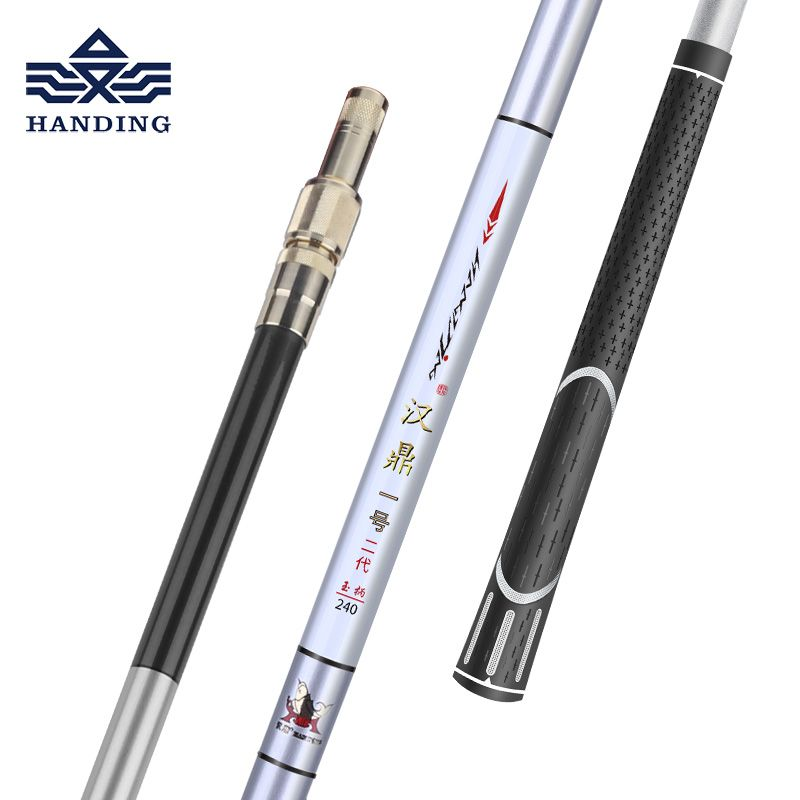Handing Fishing Pole 1.1m-3m ultralight Retractable Telescoping Landing hand Net carbon Pole <font><b>Foldable</b></font> Fishing net Pole