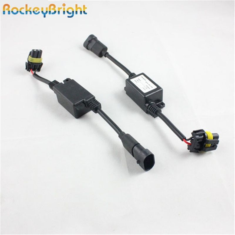 Rockeybrig error free emc hid warning canceller filter for hid xenon headlight no noise h1 h4 h11 h7 h8 9005 9006 hid xenon lamp