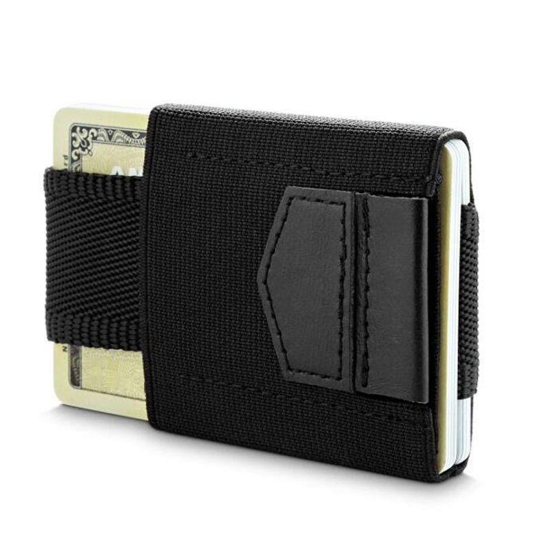 Portefeuille minimaliste mini port-carte élastique petite carte de crédit porte-monnaie mince
