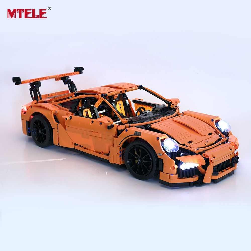 MTELE LED Light Up Kit For Technic Porsche 911 GT3 RS Building Block Light Set Compatible With Lego 42056/20001/3368/3368B/3368C