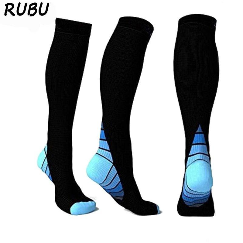 Unisexe femmes hommes chaussettes de Compression Anti-fatigue longue jambe chaussettes doux respirant élastique forte Nylon chaussettes extensibles 8AD3