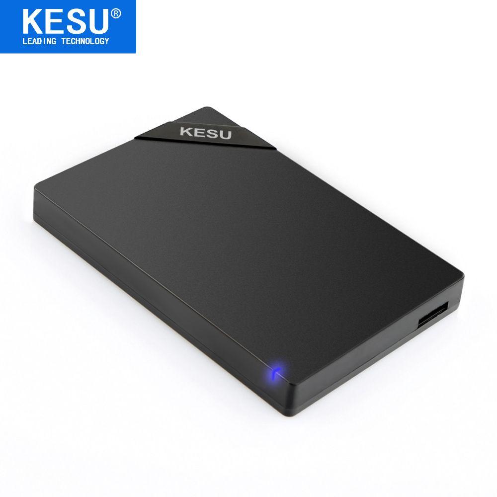 Original KESU 2.5'' External Hard Drive USB3.0 HDD Portable External HD Hard Disk for PC Mac Desktop Laptop Server (Black/White)
