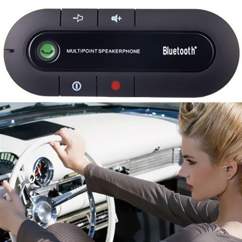 Универсальный Bluetooth гарнитура для авто Динамик телефон громкой связи Беспроводной Динамик телефон микрофоном для мобильного телефона