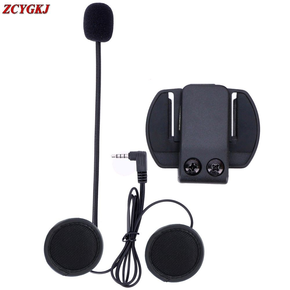 1 pcs/lot, V6 Accessories Earphone Speaker & Clip Bracket only Suit for V6 V4 V2-500C BT Interphone 3.5mm Jack Plug