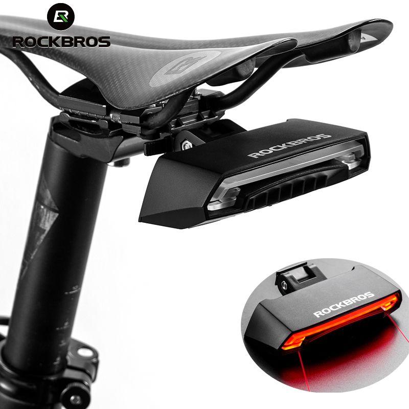ROCKBROS Bike Fahrrad LED Sattelstütze Schwanz Licht Drahtlose MTB Sicherheit Warnung Bike Wasserdichte Intelligente Fernbedienung Hinten Lampe