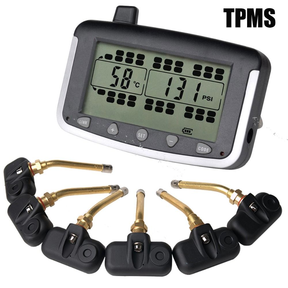 Tire Pressure Monitoring System Car TPMS with 6 pcs Internal Sensors Truck Trailer, RV, Bus, Miniature passenger car
