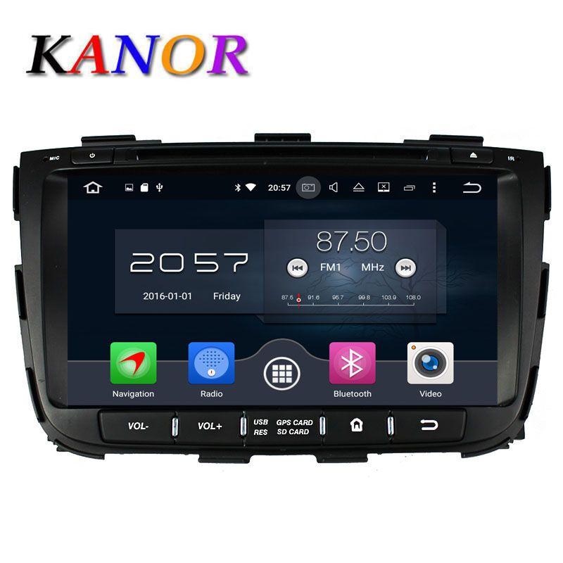 KANOR Octa Core Android 6.0 RAM 4G 32G ROM For KIA Sorento 2013 Car DVD Player GPS Radio WIFI Bluetooth Map USB Audio