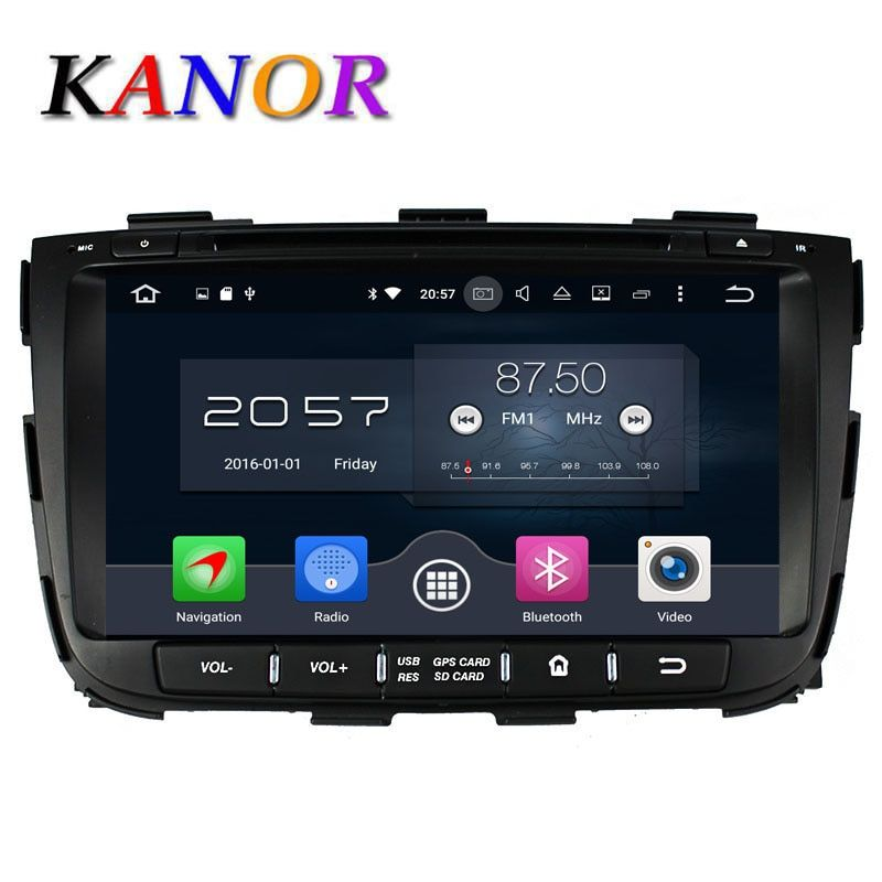KANOR Octa base Android 6.0 RAM 4G 32G ROM Pour KIA Sorento 2013 DVD de Voiture Lecteur GPS Radio WIFI Bluetooth Carte USB Audio