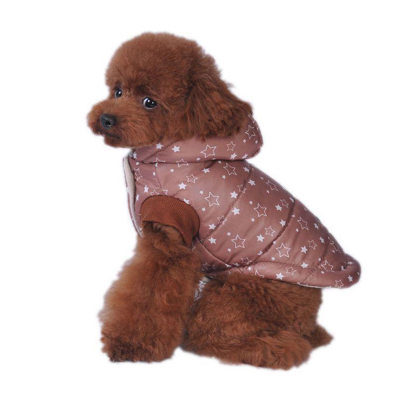 Reversible Chaqueta Warm Winter Plaid Abrigos Para Perros Ropa Para Mascotas Perro Pequeño Elástico Pequeño a Grande Perro Impermeable Ropa S-XXL