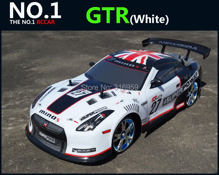Large 1:10 RC Car High Speed Racing Car 2.4G GTR 4 Wheel Drive Radio Control Sport Drift Racing Car Model electronic toy