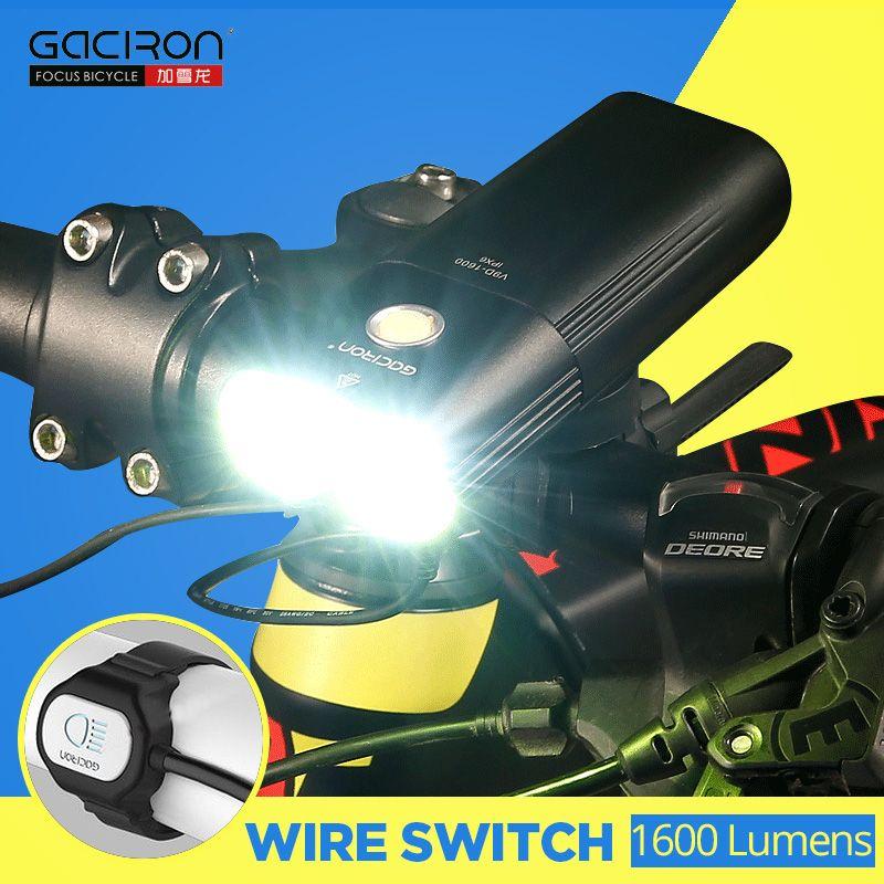 1600 lumen Fahrrad Licht MTB Front Licht Radfahren Scheinwerfer Power Bank Wasserdichte USB Aufladbare Fahrrad Licht Taschenlampe GACIRON