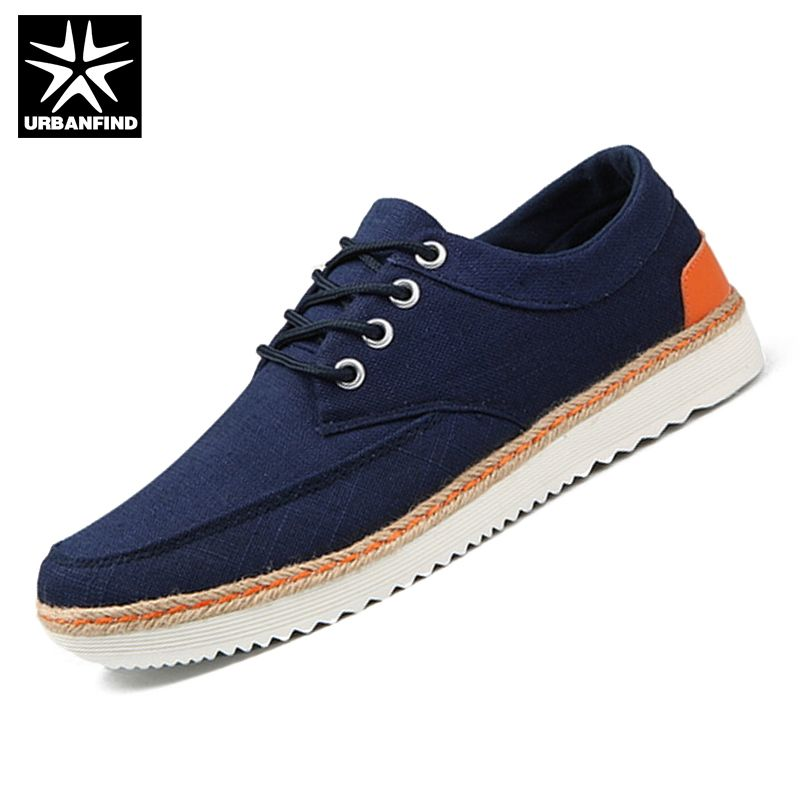 URBANFIND Spring & Autumn Men Fashion Outdoor Shoes Eu 39-47 Top Quality Man Casual Lace-up Shoes Blue / Grey / Beige