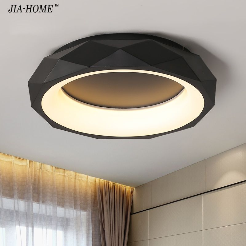 Black White round shape Modern LED Ceiling lights for living room bed room studio lighting Creative modern ceiling lamp fixtures
