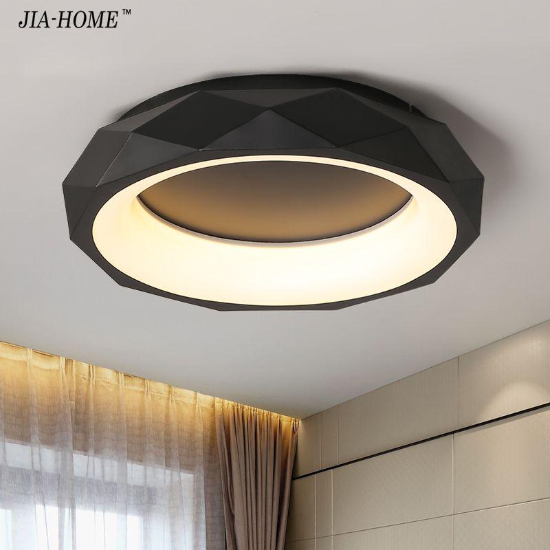 Black White round shape Modern LED Ceiling lights for living room bed room studio lighting Creative modern ceiling lamp fixtures