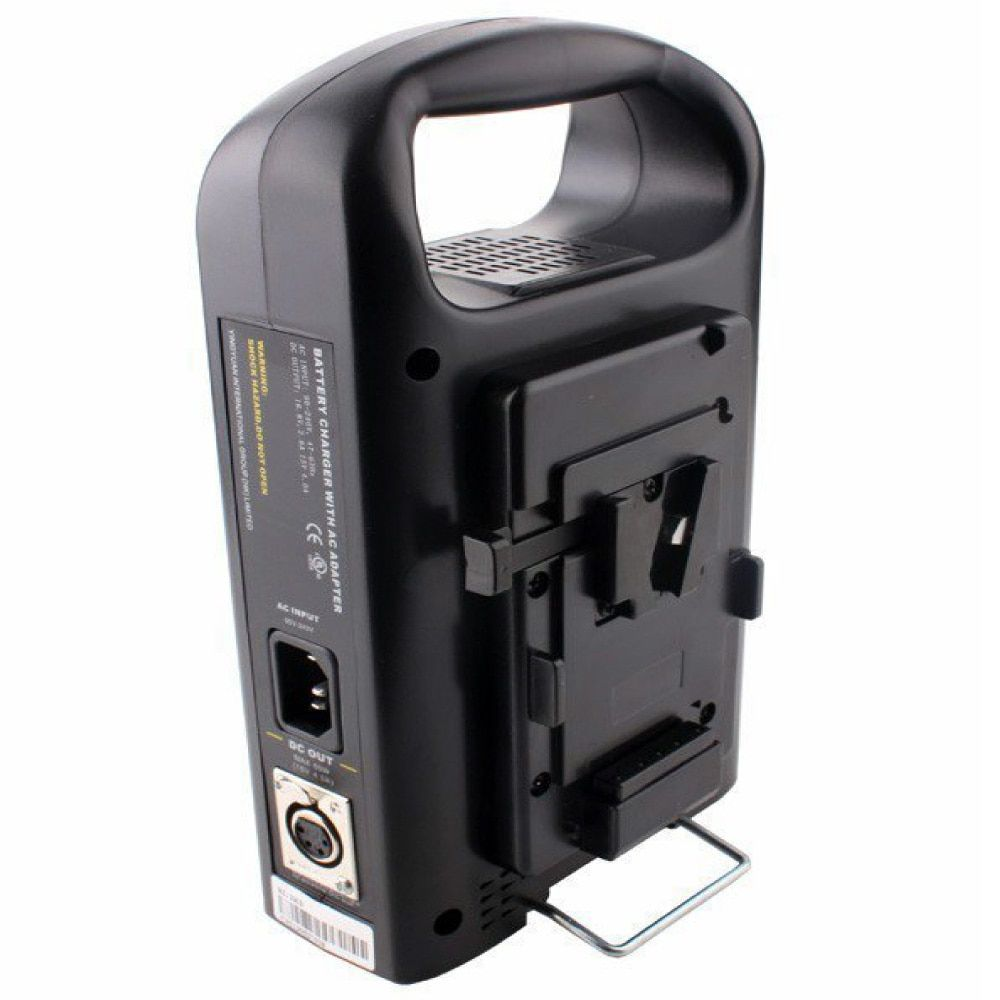 Rolux 2-Channel Dual V-mount V-Lock Li-ion BP Battery Power Charger
