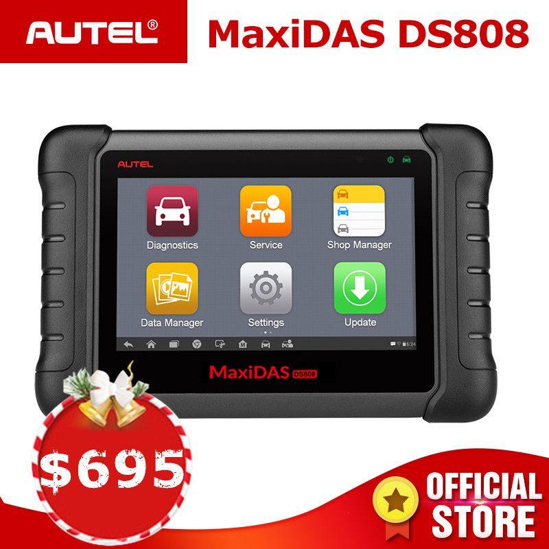 Autel MAXIDAS DS808 OBD2 Scanner Diagnostic Auto Tool OBD 2 Automotive ECU Tester ODB2 Key Programmer Immobilizer Maxisys Ms906