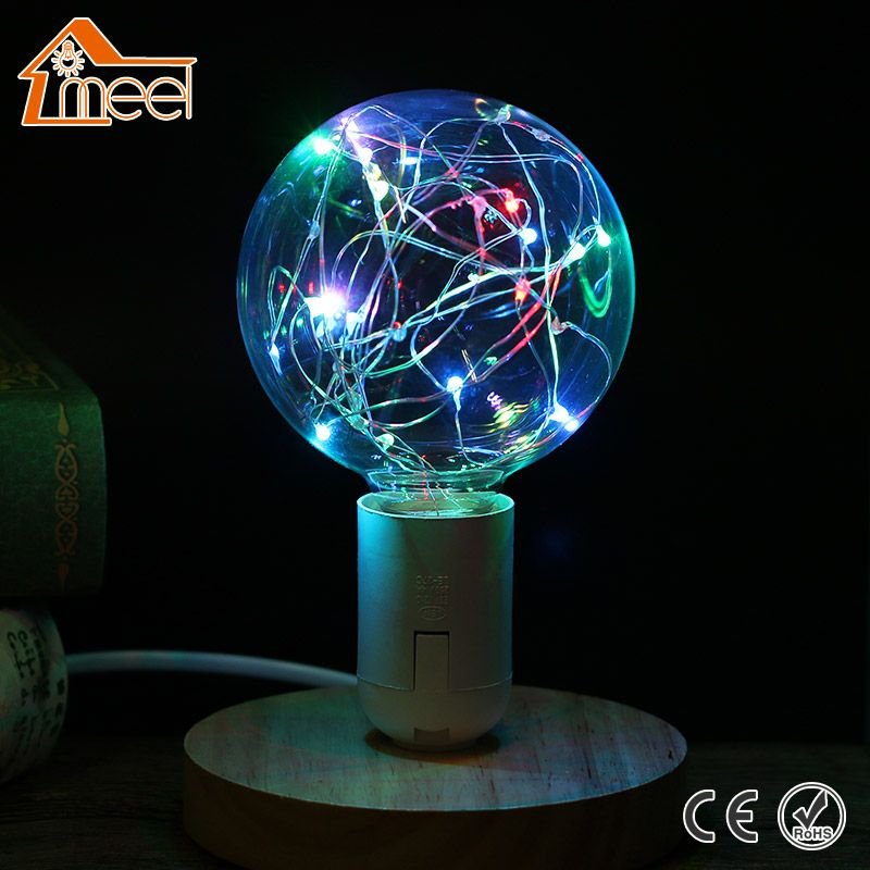 Vintage Design Fairy LED Bulb E27 85V-265V RGB String Light Filament LED Lamp Retro Edison LED Holiday String Bulb G95 110V 220V