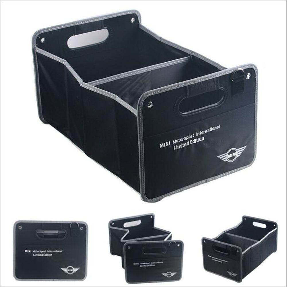 Auto Styling Stamm Faltbare Große Kapazität Fahrzeug Aufbewahrungsbox Für MINI Cooper R50 R52 R53 R55 R56 R57 R58 R59 R60 R61 R62