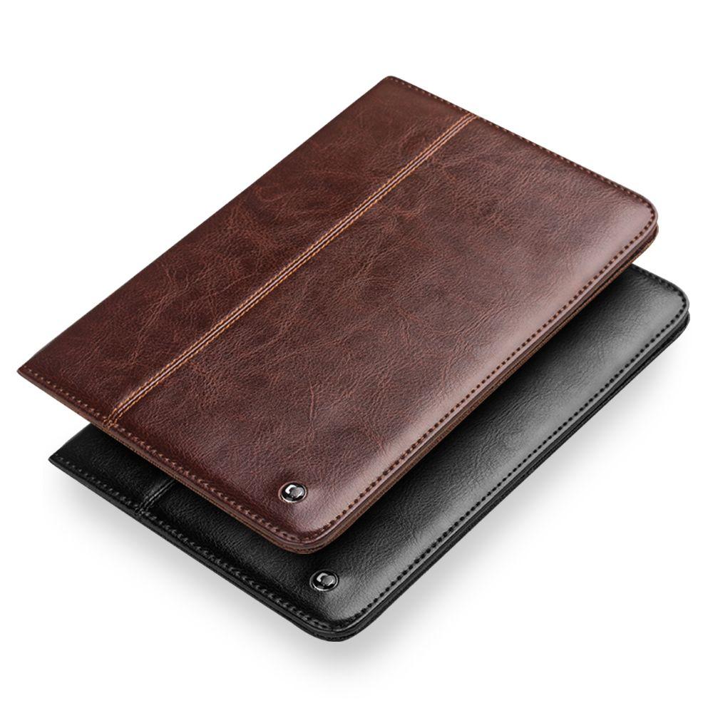 QIALINO luxury flip abdeckung fall für iPad mini 4, wachen auf und schlafen funktion, Echtes leder