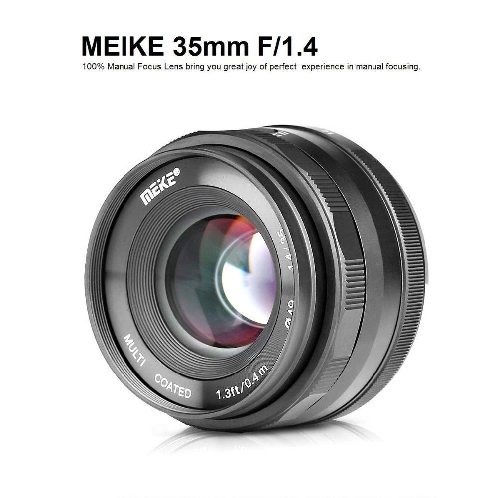 Meike 35mm f1.4 Manuelle Fokus objektiv APS-C für Sony E Mount/für M4/3 Mount/für nikon Spiegellose Kamera A7 A7II A6000 A6500 A7III