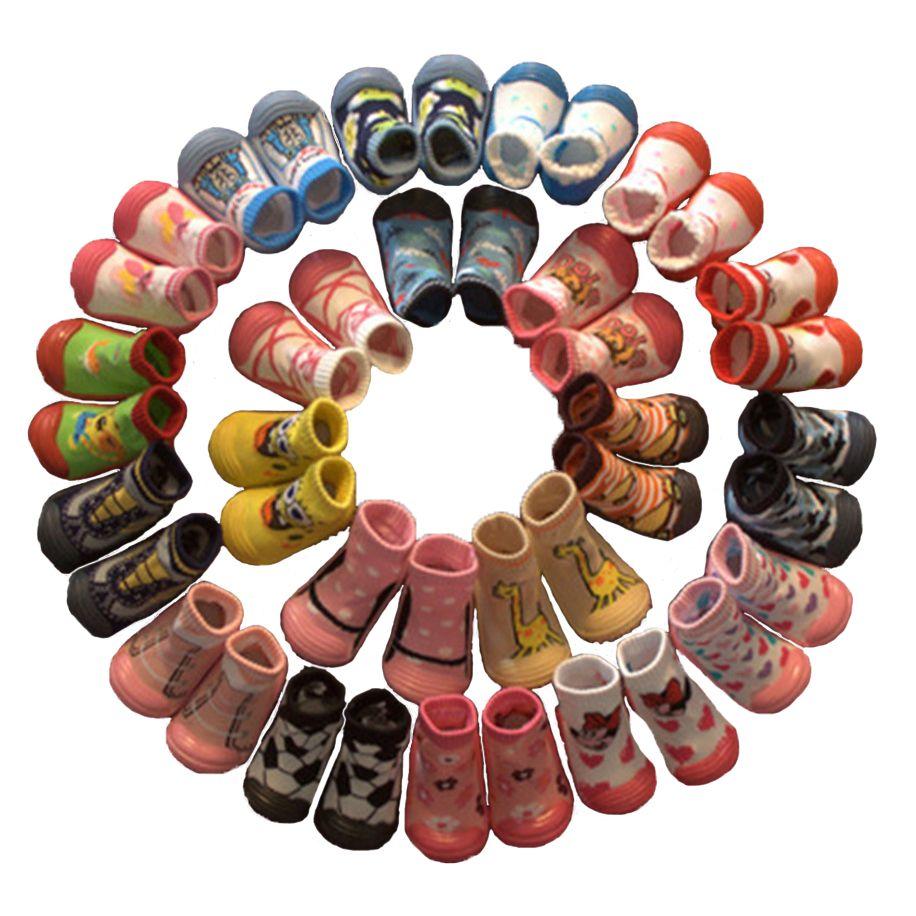 Детские носки мягкая подошва не скользит пол Детские носки для малышей для девочек и мальчиков новорожденных Enfant Обувь Носки для девочек с ...