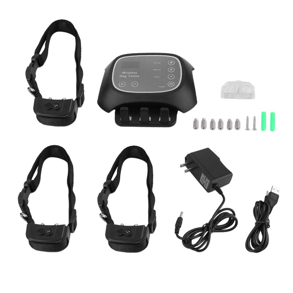 Waterproof Wireless Pet Fence Containment 1 /2 /3 Dog Systems Long Remote Control Distance US Plug Dog Safe Training