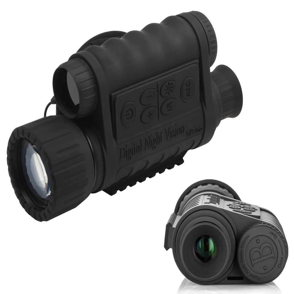 Digital Night Vision Monocular 6x50mm with 1.5 inch TFT LCD 350m Detection Range Infrared HD Camera Camcorder Function Takes 5mp