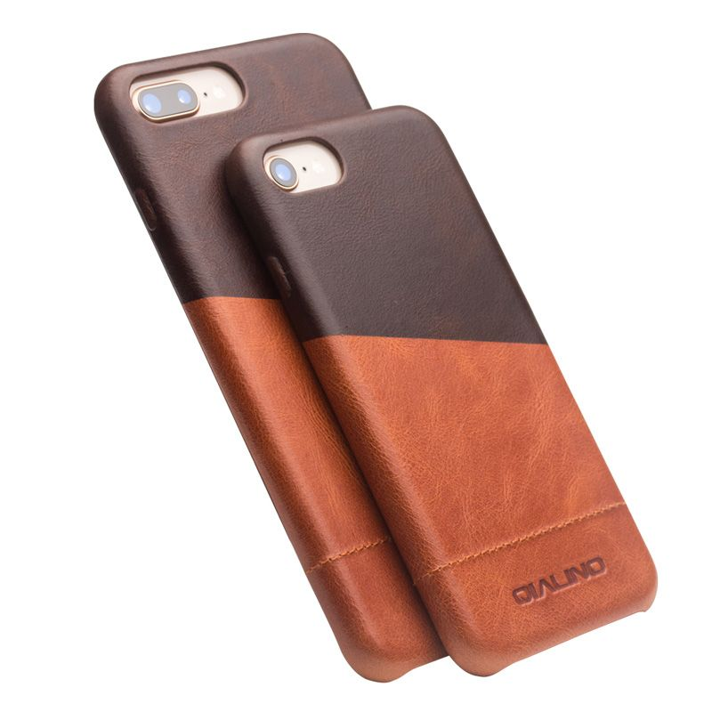 QIALINO Fashion Genuine Leather Case For iPhone8 8plus Luxury Handmade Ultra thin Cover for iPhone7 7plus Back Cover Capa Bag