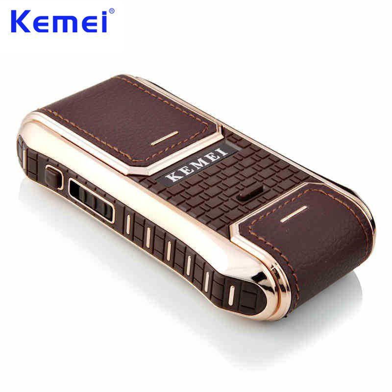KEMEI Mini Portable Rechargeable Rasoir Électrique pour Hommes Soins Du Visage Tondeuse Épilation Tondeuse à Barbe Rasoir KM-5300