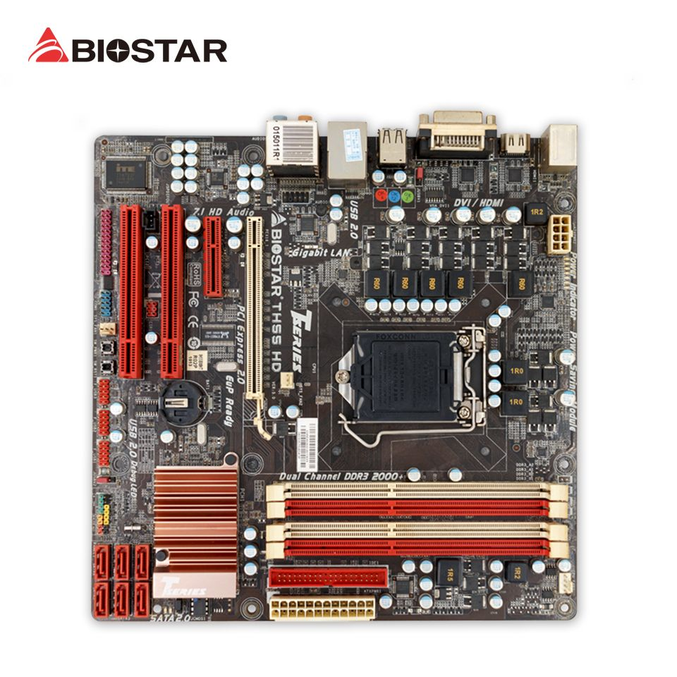 BIOSTAR TH55 HD Desktop Motherboard H55 LGA 1156 DDR3 16g SATA2 USB2.0 Micro ATX