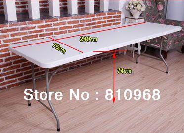 8ft Messe Tabelle, hohe Qualität OutsideTable für fair, ausstellung Tisch (in der mitte gefaltet werden)