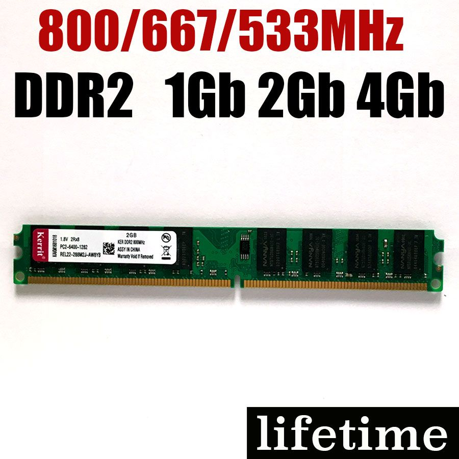 ddr2 4Gb RAM memory 2Gb ddr2 For Intel - For AMD DDR2 800Mhz - 1Gb 2Gb 4Gb ddr 2 800 memory RAM -lifetime warranty- 800Mhz