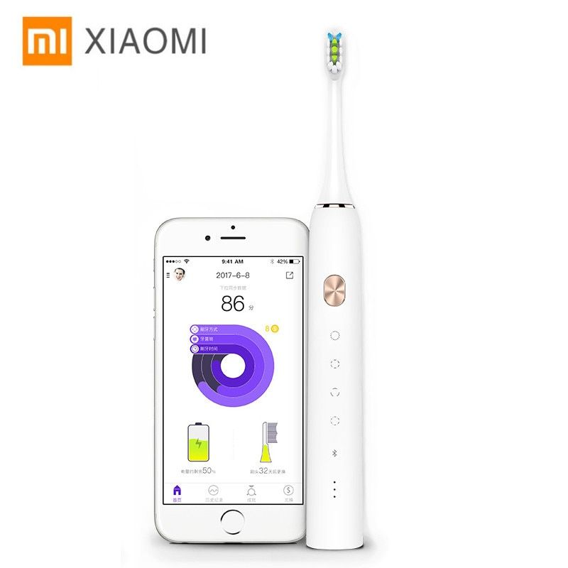 Xiaomi Soocare X3 Soocas Upgraded Electric Sonic Smart Toothbrush Bluetooth Waterproof Wireless Charge Android iOS Mi Home APP