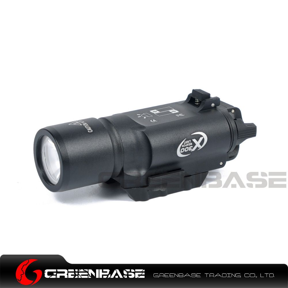 Greenbase Tactical Weapon Light SF X300 Hunting Flashlight Airsoft Pistol Scout Light Constant / Momentary Output Picatinny Rail