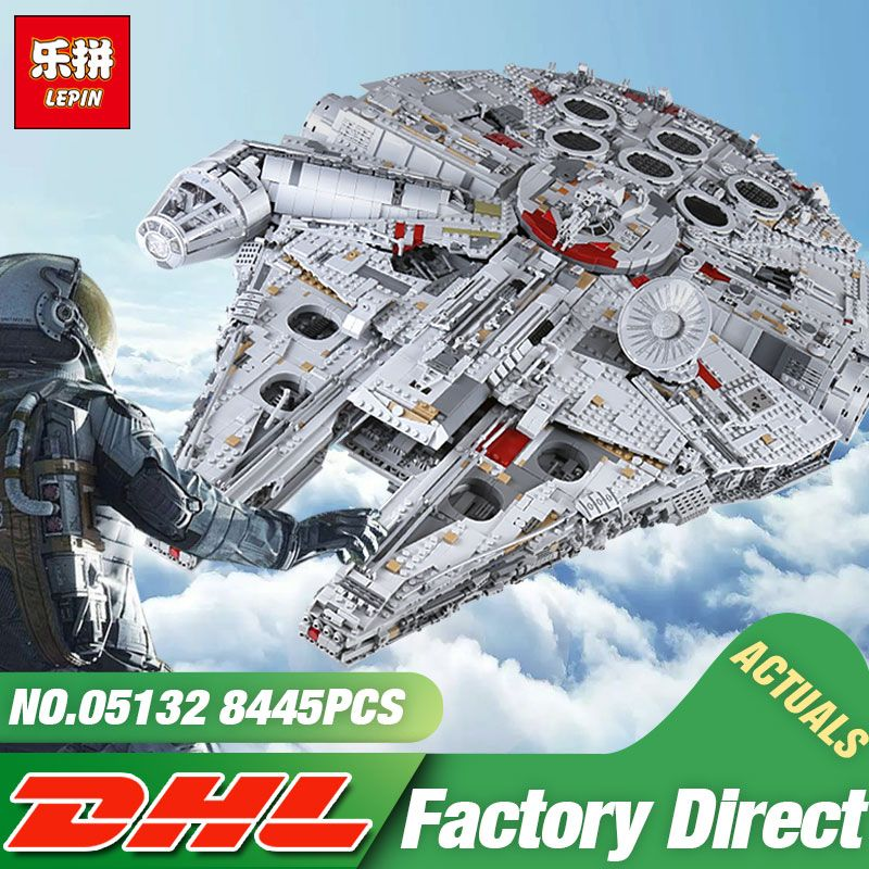 DHL Lepin 05132 8445PCS The 75192 Millennuium New Falcon Ultimate Collector's Destroyer Set Building Blocks Bricks Kid Toys Gift