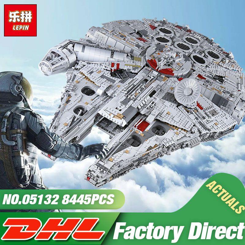 DHL Lepin 05132 Star Toy Wars The 75192 New Millennuium Falcon Star Destroyer Set Building Blocks Bricks Kid Toys Christmas Gift