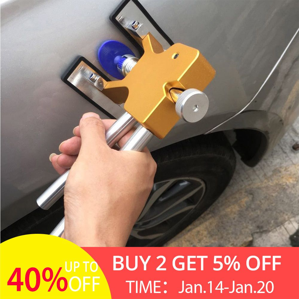 Car Body Paintless Dent Lifter Repair Tool Puller+18 Tabs Hail Removal Tools for bmw e46 90 ford focus for free drop shipping US