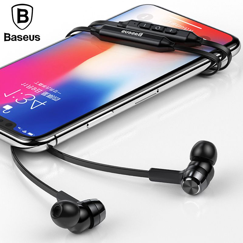 Baseus S06 Neckband Bluetooth Earphone Wireless headphone For <font><b>Xiaomi</b></font> iPhone earbuds stereo auriculares fone de ouvido with MIC