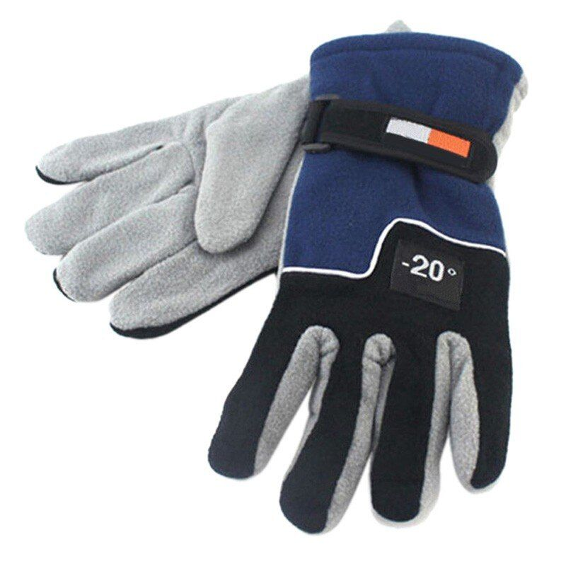 Unisex Winter Fleece Radfahren Handschuhe Thermische Motorrad Mtb Reiten Winddicht Handschuhe Skifahren Skating Warme Handschuhe