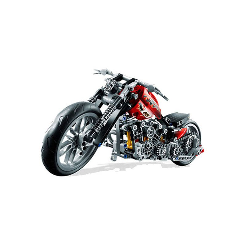 Dropshipping 3354 3353Exploiture Speed Racing Motorcycle Building Blocks Model Sets 378pcs Bricks Educational Toys For Kids Gift