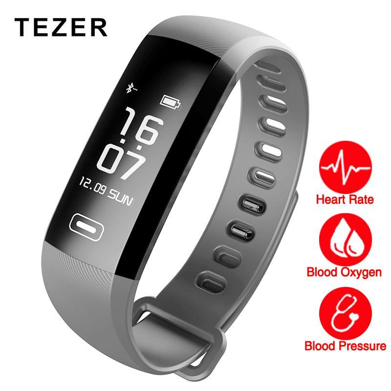 TEZER R5MAX smart Fitness Bracelet Watch intelligent blood pressure heart rate Blood <font><b>oxygen</b></font> 50 LETTERS SMS APP Message push
