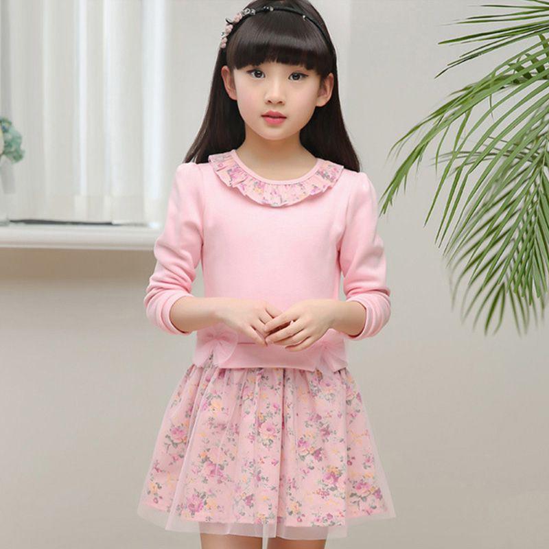 Bébé fille Floral printemps été robe 2019 petites filles princesse robes enfants automne vêtements taille pour 2 3456 7 8 9 10 11 12 ans