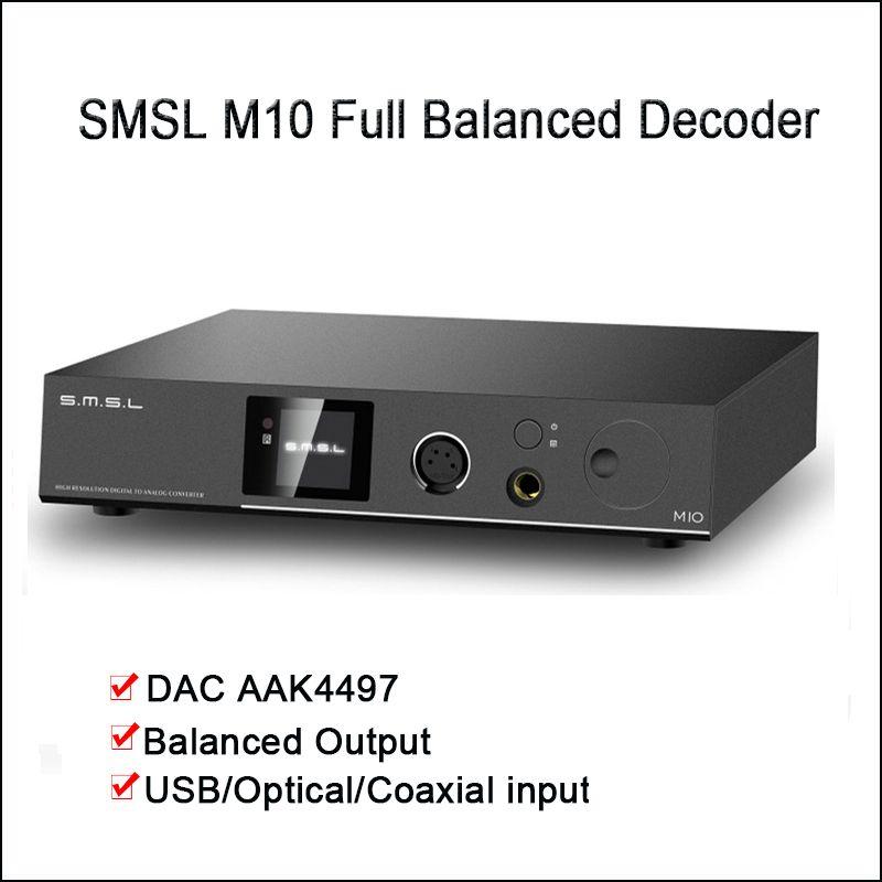 SMSL M10 Desktop DAC Audio Verstärker USB DAC AK4497 XMOS Decoder DSD512 Ausgewogene Kopfhörer Verstärker Ausgang
