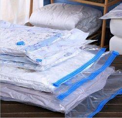 Vacuum Bag For Clothes With Valve Transparent Border Foldable Compressed Organizer Home Quilt Storage Bag wardrobe organizer