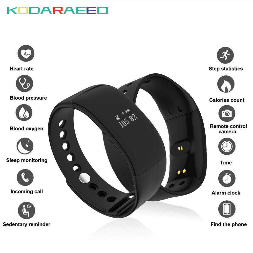 V66 Smart Watch IP67 Waterproof Bluetooth4.0 Sport Smartwatch Heart Rate tracker Wristband Health Bracelet for Android IOS Phone