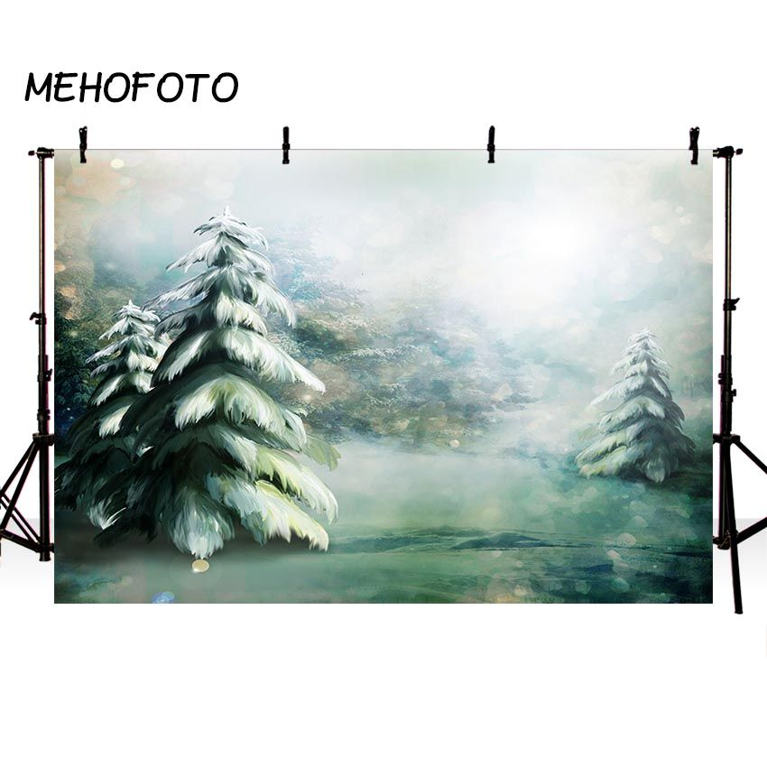 Christmas Photography Backdrop Hand-painted Decoration Watercolor Painting Photo Booth Background Props for Photo Studio