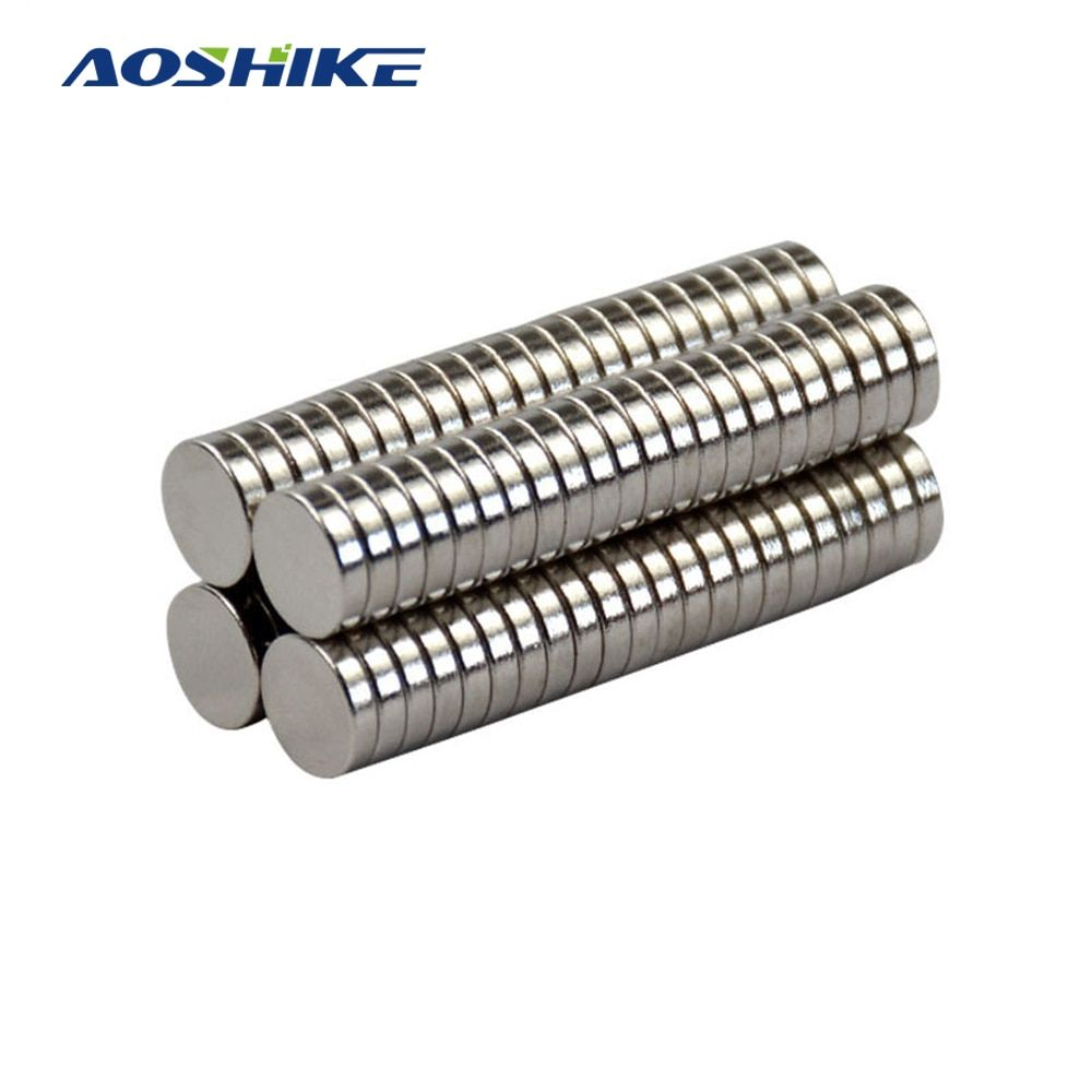 Aoshike 100pcs Mini N35 8*2mm Round Disc Magnets 8mm*2mm Rare Earth Magnet NdFeB Strong Magnetic Magnetite Super Magnets 8x2