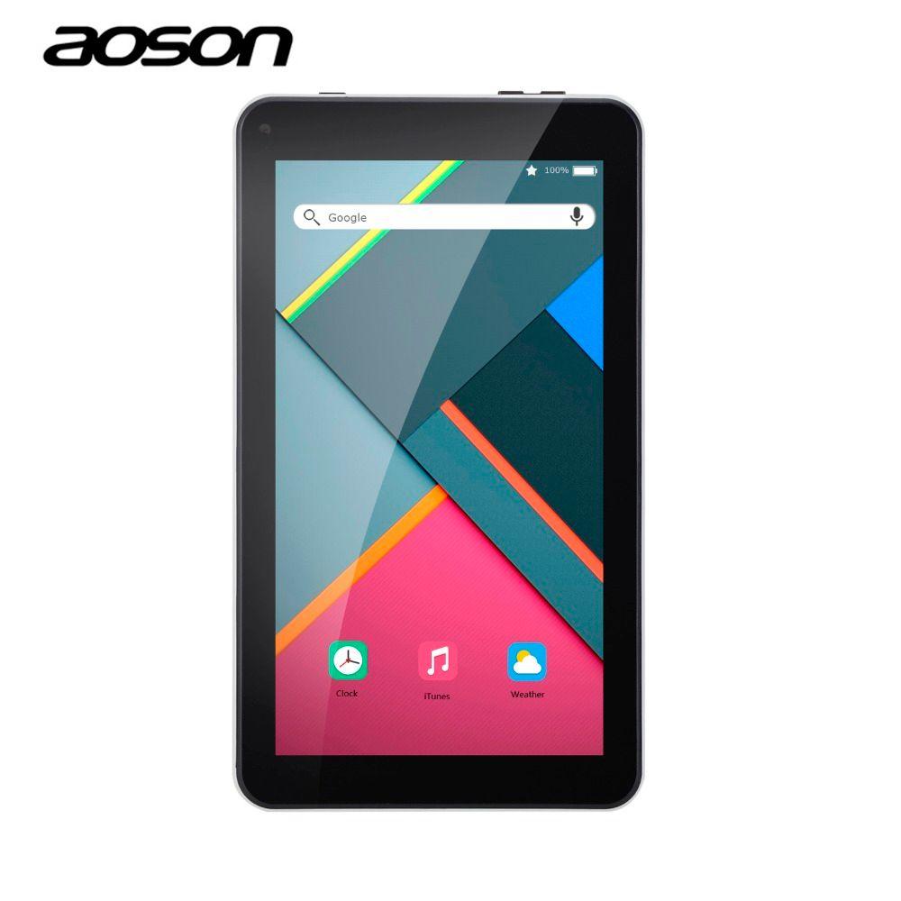Neue 7 zoll Tabletten PC Aoson M751 1G 8G Android 5.1 Stücke tabletten Quad-core-ips-bildschirm 1024*600 Bluetooth Dual Kameras OTG FM WiFi