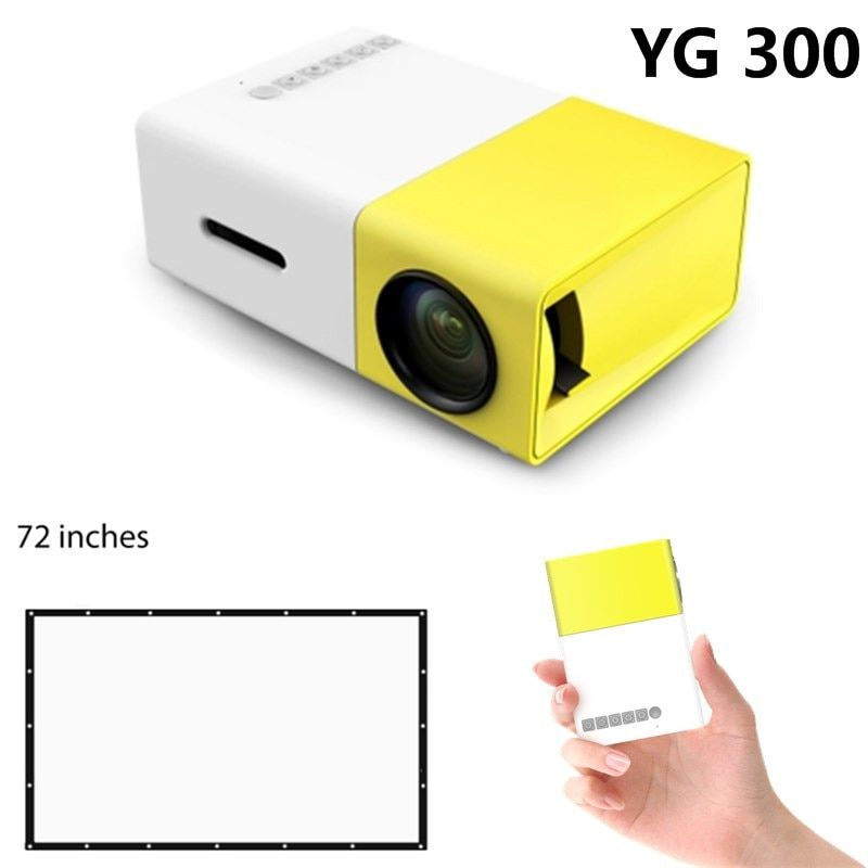 YG300 Projector LED Portable YG-300 Projector 400-600LM Audio 320x240 Pixels HDMI USB Mini Projector Support Drop shipping