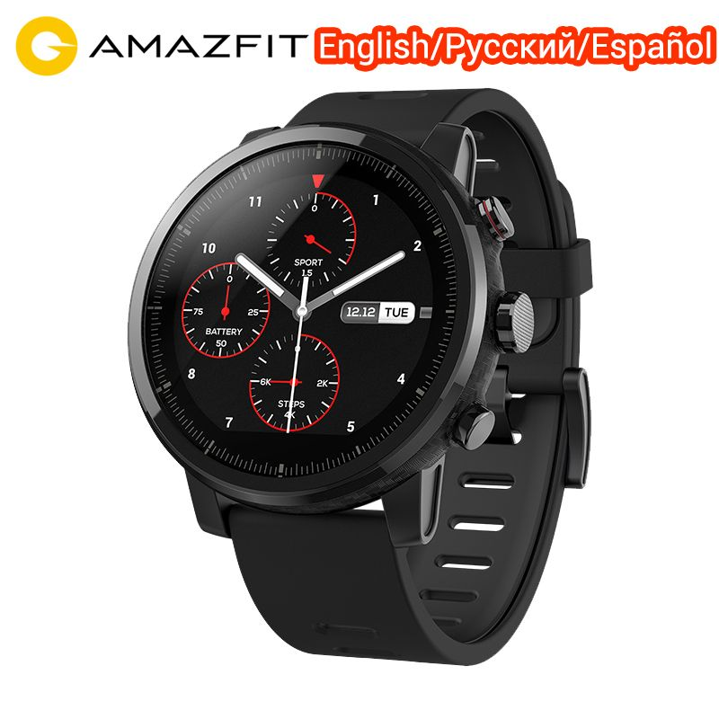 Xiaomi Huami Amazfit Stratos 2 Amazfit Tempo 2 Smartwatch Herz Rate Monitor Englisch Version mit GPS Wasserdichte Sport Smartwatch